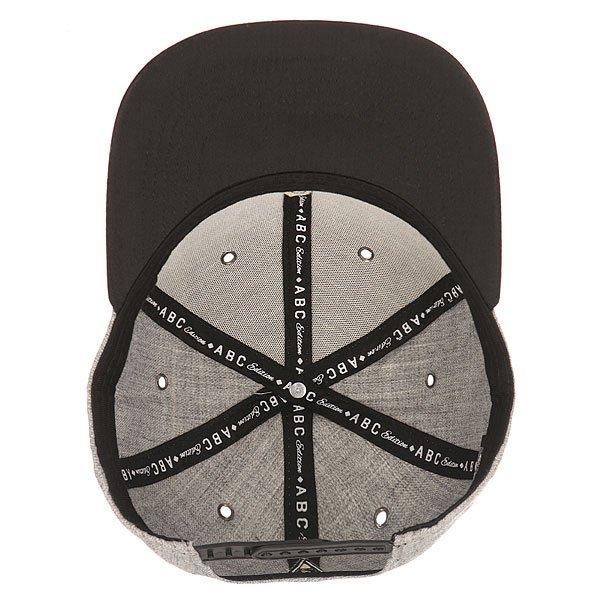 Бейсболка с прямым козырьком TrueSpin Abc Snapback Dark Grey/Black Leather-b