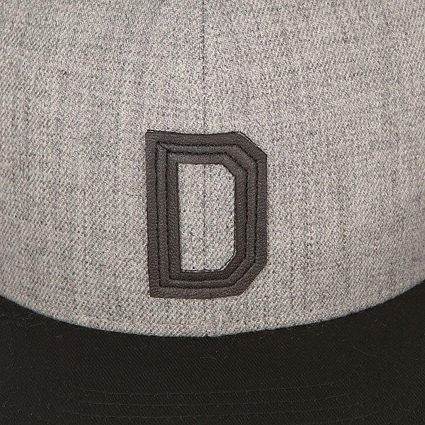 Бейсболка с прямым козырьком TrueSpin Abc Snapback Dark Grey/Black Leather-d