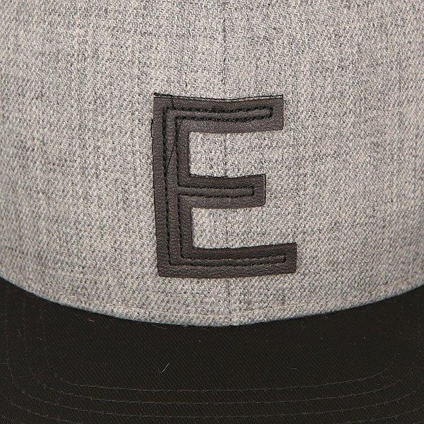 Бейсболка с прямым козырьком TrueSpin Abc Snapback Dark Grey/Black Leather-e