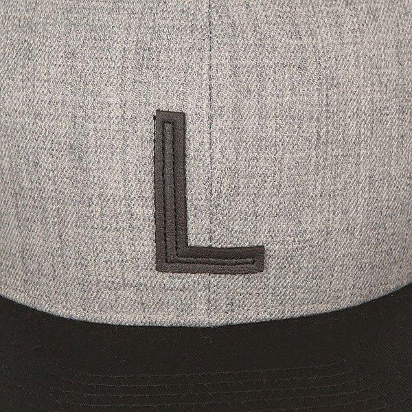 Бейсболка с прямым козырьком TrueSpin Abc Snapback Dark Grey/Black Leather-l