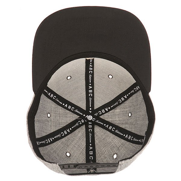 Бейсболка с прямым козырьком TrueSpin Abc Snapback Dark Grey/Black Leather-o