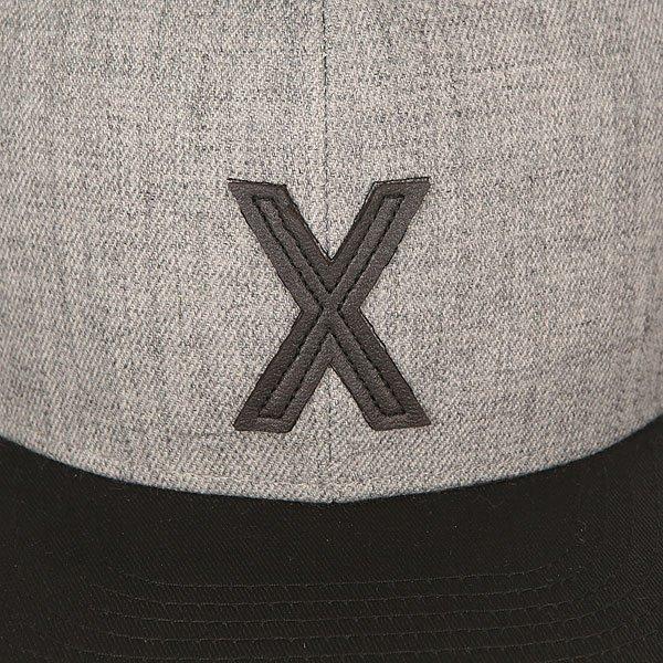 Бейсболка с прямым козырьком TrueSpin Abc Snapback Dark Grey/Black Leather-x