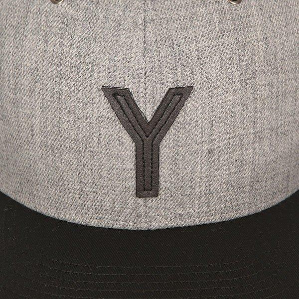 Бейсболка с прямым козырьком TrueSpin Abc Snapback Dark Grey/Black Leather-y