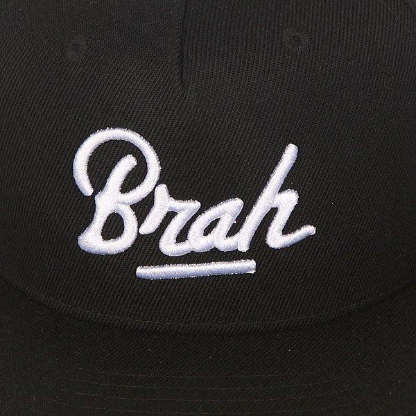 Бейсболка с прямым козырьком TrueSpin Brah Black