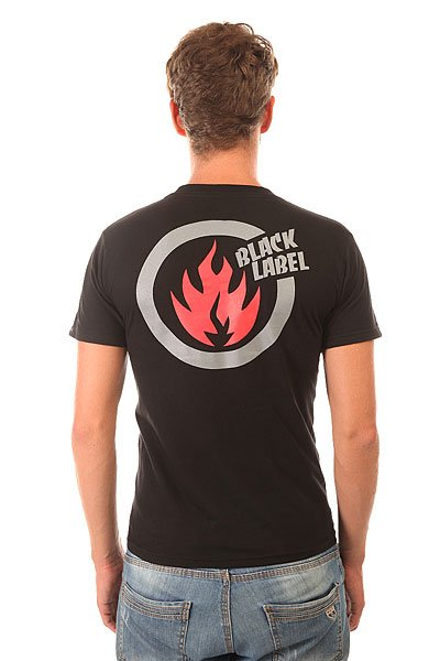 Футболка Black Label Large Circle Flame 2 Black