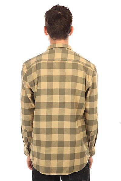 Рубашка в клетку Quiksilver Motherflyfla Dusty Olive