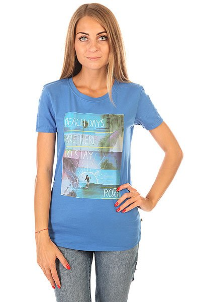 Футболка женская Roxy Russiancrew J Tees Palace Blue
