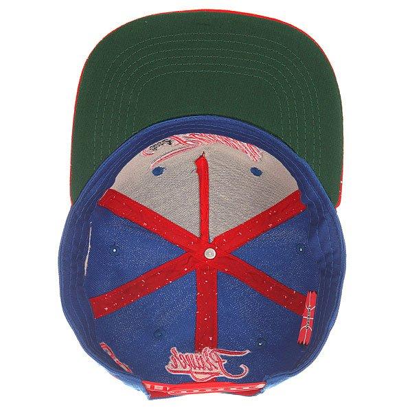 Бейсболка с прямым козырьком TrueSpin Splatter Player Dark Blue
