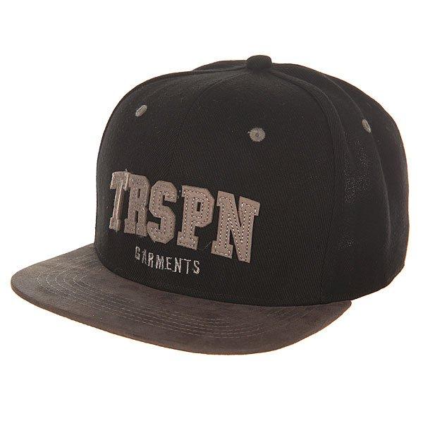 Бейсболка с прямым козырьком TrueSpin Trspn Fleece 01 Black