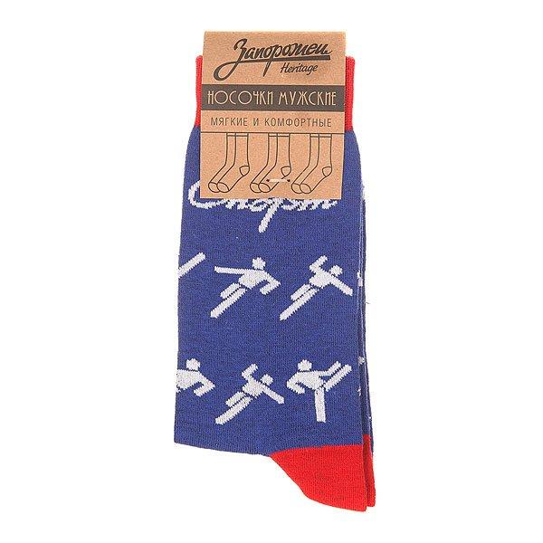 Носки средние Запорожец Спорт Человечки Синий