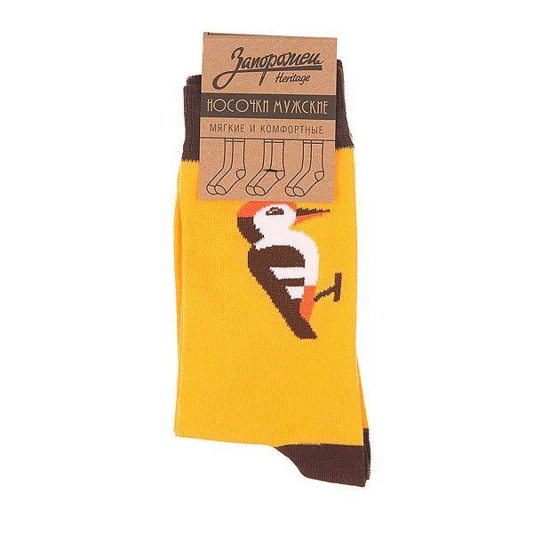 Носки средние Запорожец Дятел Оранжевый