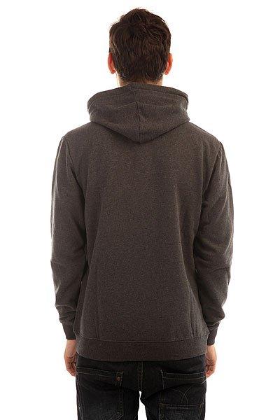 Толстовка кенгуру Quiksilver Big Logo Hood Dark Grey