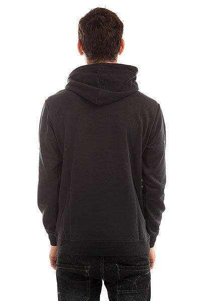 Толстовка кенгуру Quiksilver Big Logo Hood Real Black