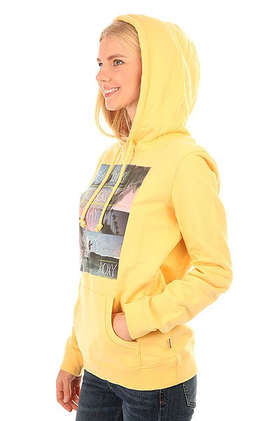 Толстовка кенгуру женская Roxy Hoodie Ru Flax