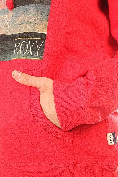 Толстовка кенгуру женская Roxy Hoodie Ru Scarlet