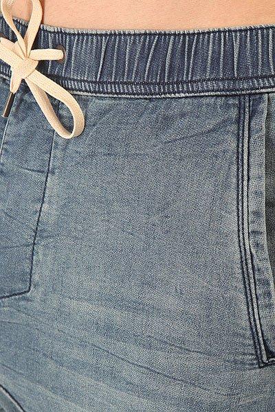 Штаны прямые Globe Select Denim Jogger Damaged Blue