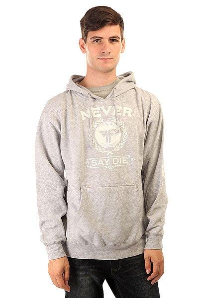 Толстовка кенгуру Fallen Never Say Die Hood Heat Grey/White
