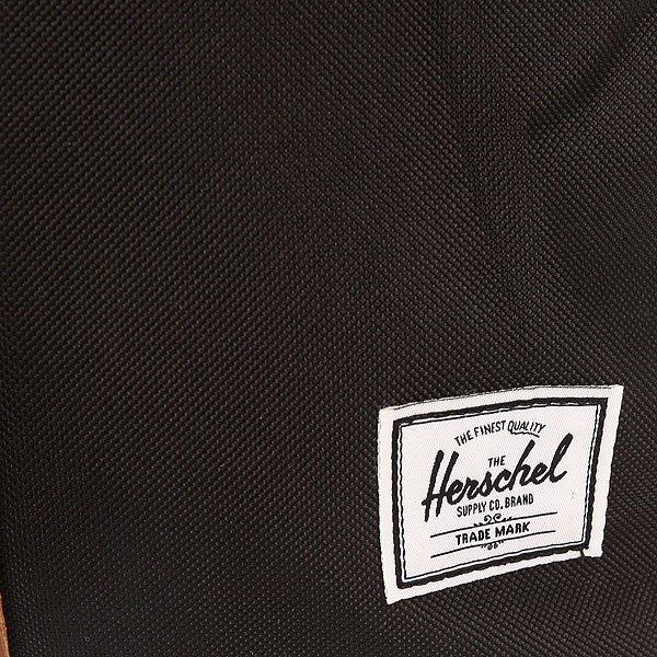 Рюкзак городской Herschel Post Mid Volume Black/Tan Synthetic Leather