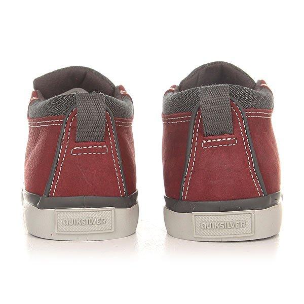 Кеды высокие детские Quiksilver Griffin Red/Grey