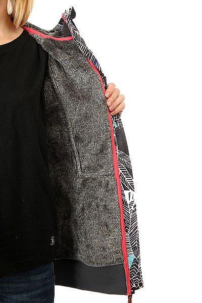Толстовка утепленная женская Roxy Frost Printed Ha-hui True Black