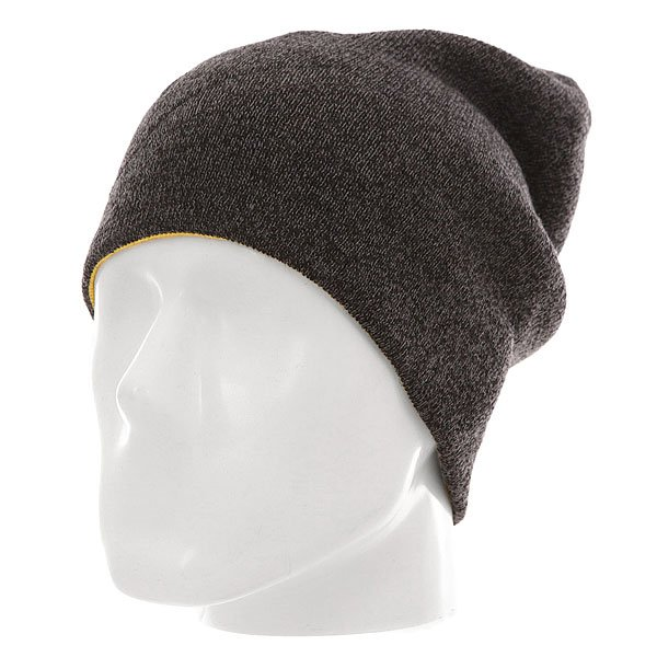 Шапка носок Quiksilver Heatbag Slouch Black/Safety Yellow