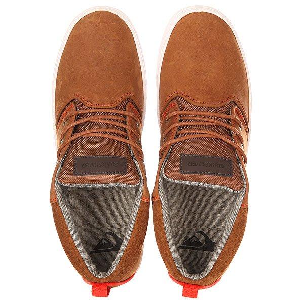 Кеды высокие Quiksilver Griffin Brown/Orange