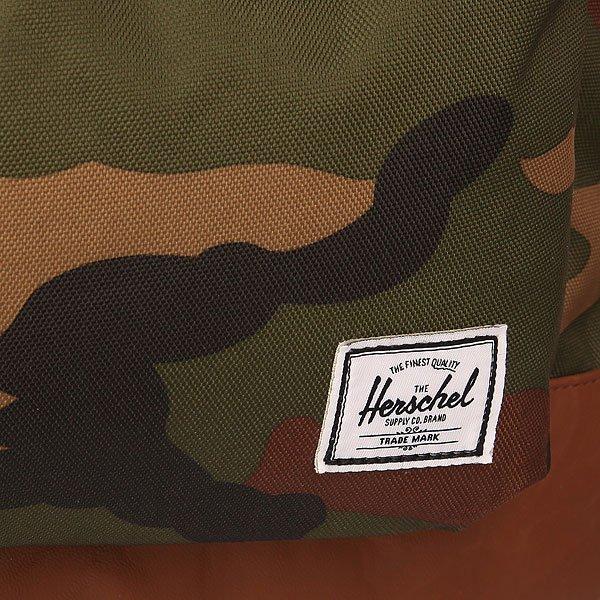 Рюкзак городской Herschel Heritage Woodland Camo/Tan Synthetic Leather