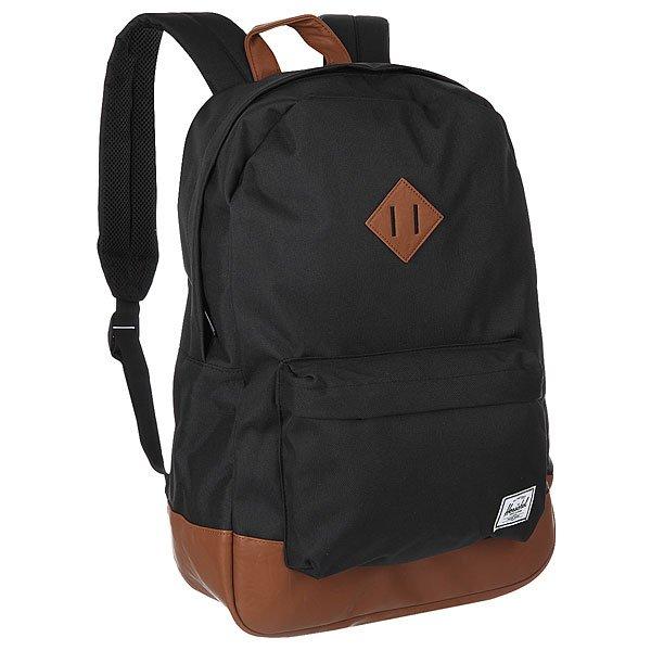 Рюкзак городской Herschel Heritage Black/Tan Synthetic Leather