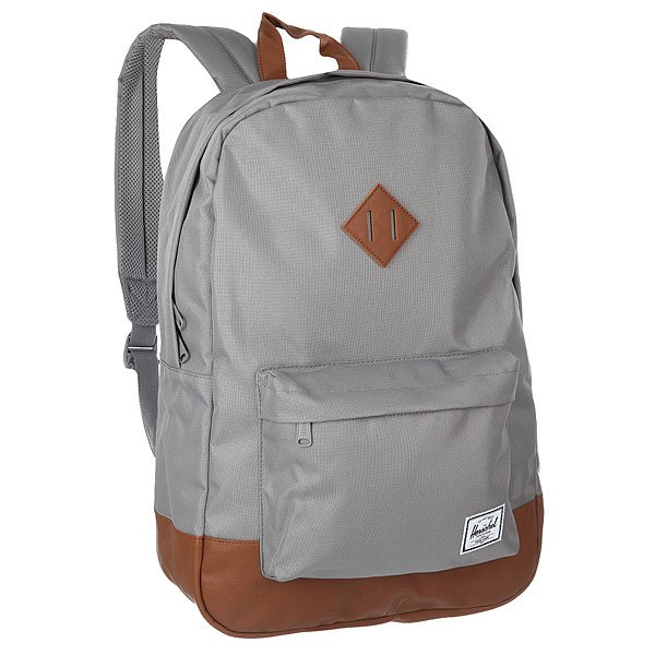 Рюкзак городской Herschel Heritage Grey/Tan Synthetic Leather