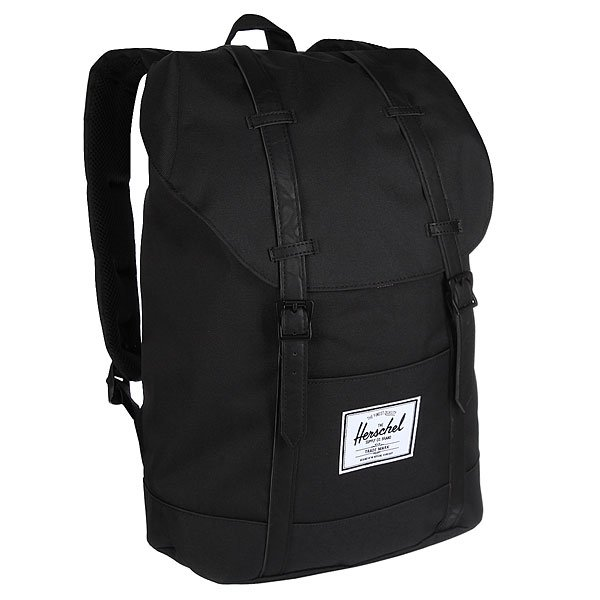 Рюкзак городской Herschel Retreat Black/Black Synthetic Leather