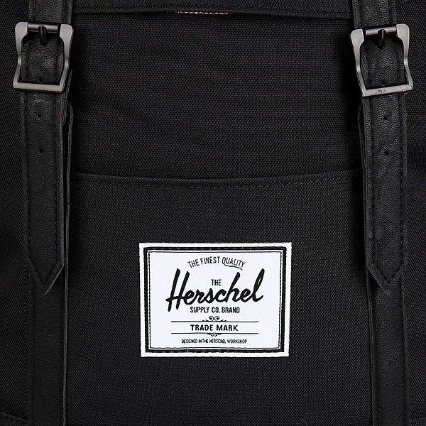 Рюкзак городской Herschel Retreat Black/Black Synthetic Leather