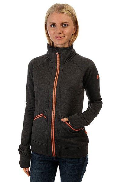 Толстовка сноубордическая женская Roxy Glisten Mid Heather Grey