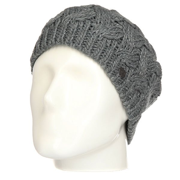 Шапка женская Roxy Love-snowbeanie Mid Heather Grey