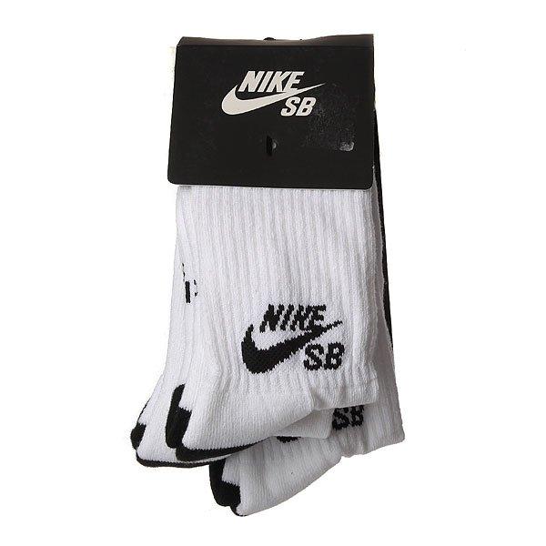 Носки средние Nike Sx5865 3 Pack White/Black