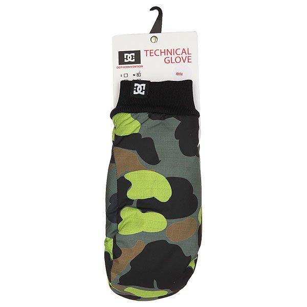 Варежки сноубордические детские DC Flag Mitt Camouflage Lodge You