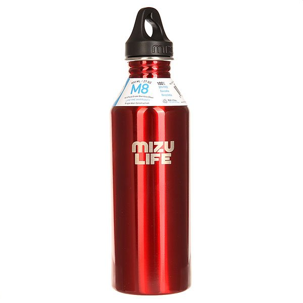 Бутылка для воды Mizu M8 Mizu Life Red Steel Le