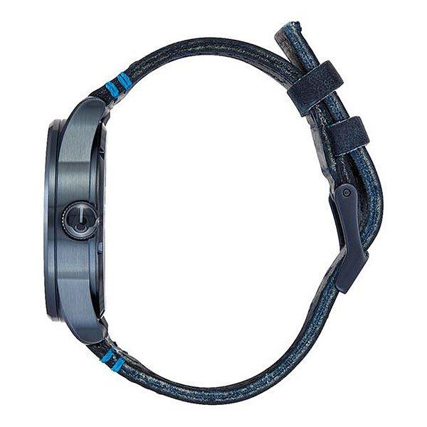 Кварцевые часы Nixon Sentry Leather All Dark Bluee