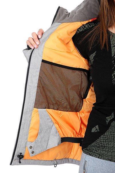 Куртка женская Roxy Wildlife Mid Heather Grey