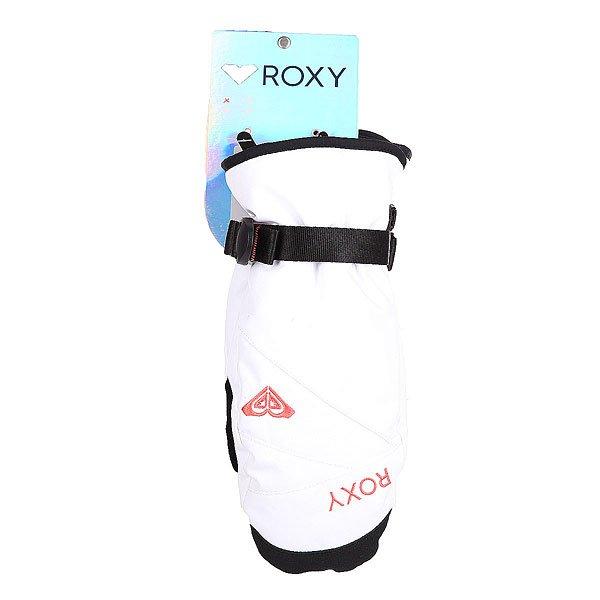 Варежки сноубордические женские Roxy Rxjettysolidmit Bright White