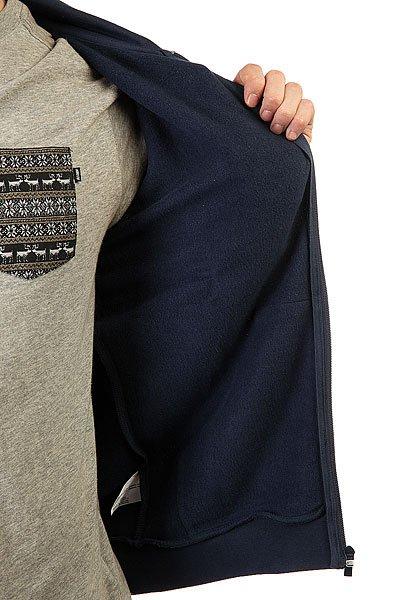 Толстовка классическая Le Coq Sportif Ailier Fz Hood Brushed Dress Blue