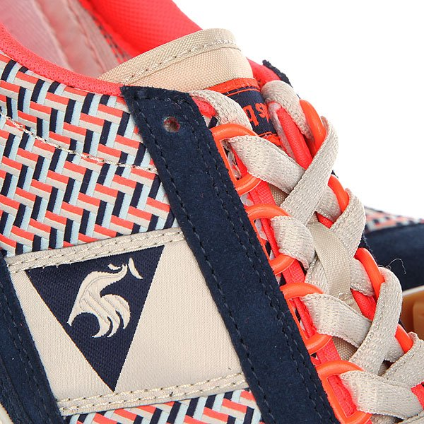 Кроссовки женские Le Coq Sportif Eclat W Geo Jacquard Dress Blue/Fiery Co