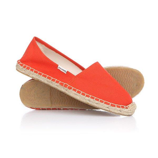 Эспадрильи женские Soludos Original Dali Tangerine Red