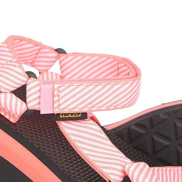 Сандалии женские Teva Flatform Universal Candy Stripe Coral