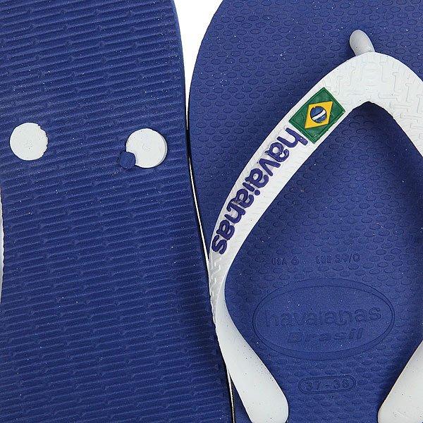 Вьетнамки Havaianas Brasil Logo Blue/White