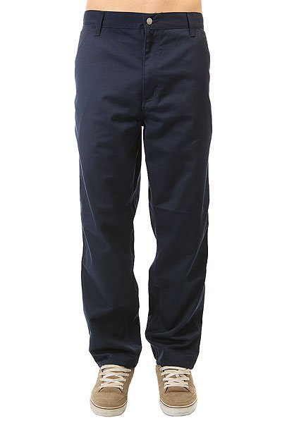 Штаны прямые Carhartt WIP Wip Simple Pant Navy Rinsed