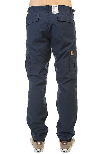 Штаны прямые Carhartt WIP Wip Aviation Pant Navy Rinsed