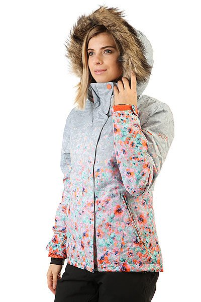 Куртка женская Roxy Jet Ski Grad Gradient Flowers Hea