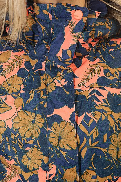 Куртка женская Roxy Jet Ski Amazone Flowers Blue