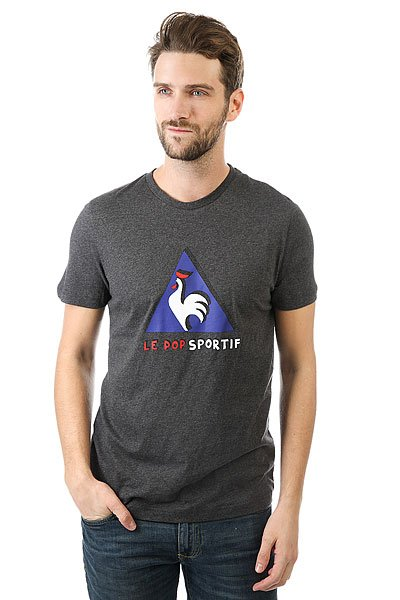 Футболка Le Coq Sportif Pop Sportif Tee N°2 Dark Heather Grey