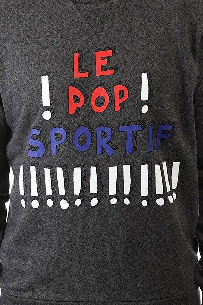 Толстовка свитшот Le Coq Sportif Pop Sportif Crew Dark Heather Grey
